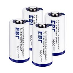 4Pack EBL CR123A 3V Lithium Battery For Camera Photo Flashli