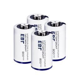 4Pack EBL CR2 3V Lithium Battery Single Use Batteries for Fl