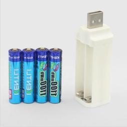 4pcs Kentli 1.5V 1100mWh  Lithium Rechargeable AAA LiPo Batt