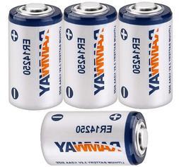 4PCS 3.6V 1/2AA ER14250 LS14250 1200mAh Li-socl2 Lithium Sin