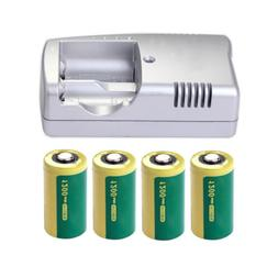 4PCS 3V 1200mAh 16340 CR123A Camera Rechargeable Lithium Bat