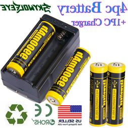 4pcs BRC 18650 3.7V 9900mAh Li-ion Lithium Rechargeable Batt
