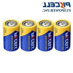 4pcs Extra Heavy Duty 1.5V R20P PC1300 UM1 720min Zinc-Carbo