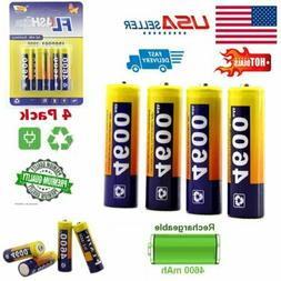 4X AA Batteries Ni-MH Rechargeable 4600mAh Long Lasting for