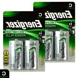 4x Energizer Rechargeable C Size batteries Accu Recharge Pow