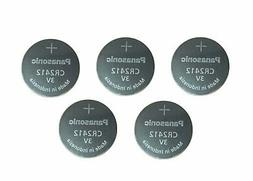 5 Batteries Panasonic Lithium Button Cell CR2412 CR 2412 Bat