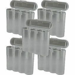 5 Clear 18650 & CR123A 4 Battery Holder Storage Case for 186