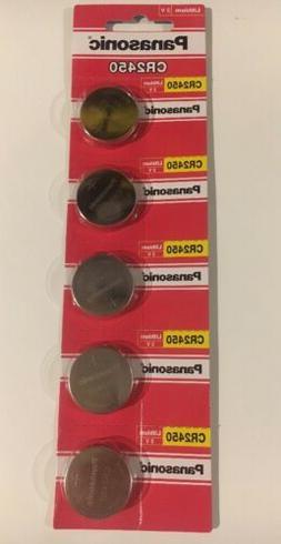 5 NEW PANASONIC CR2450 3V BATTERIES ECR2450 USA SELLER FREE