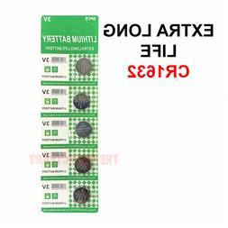 5 PACK FRESH LONG LIFE CR1632 ECR1632 1632 3V Lithium Coin B
