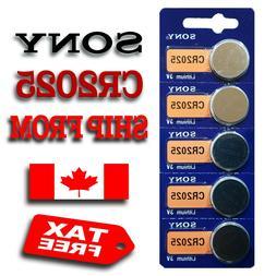 5 Pcs SONY CR2025, BR2025, DL2025, 3V Lithium Battery, Quali