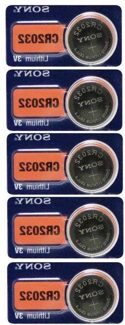 5 Pieces Fresh SONY CR2032 DL2032 ECR2032 CMOS Lithium 3V Wa