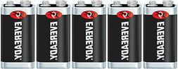 5 Eveready Super Heavy Duty 9V 9 Volt Carbon Zinc Batteries