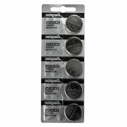 5 x FRESH Genuine Energizer CR2025 ECR2025 3V Coin Button Ba