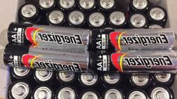 50 Pack Energizer AA Max Alkaline E91 Batteries Made in USA
