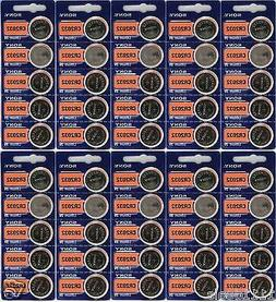 50 Pack Sony CR2032 3V Lithium Coin Batteries FRESHLY NEW US