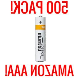 500 AMAZON AAA ALKALINE BATTERIES BASICS 1.5V BULK WHOLESALE