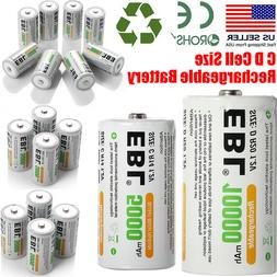 EBL C D Size Cell NI-MH 1.2V Rechargeable Batteries High Cap