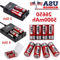 EBL 5000mAh 26650 Li-ion Rechargeable Battery / Charger for