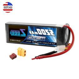 Zeee 5200mAh 50C 3S 11.1V Dean XT60 Plug LiPo Battery for RC