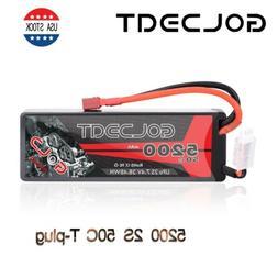 5200mAh 50C 7.4V 2S LiPo Battery Hardcase Deans T Plug for R