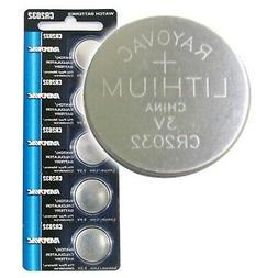 5pk Rayovac CR2032 3V Lithium Coin Cell Battery Replaces RV2