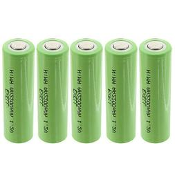 5x Exell 1.2V AA 2200mAh Rechargeable NIMH Flat Top Batterie