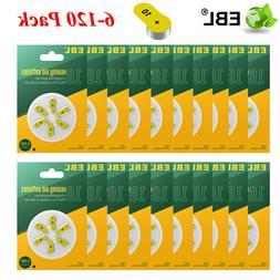 EBL 6-120PCS Hearing Aid Batteries Size 10 AC10 P10 Zinc Air