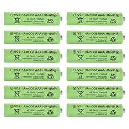 6/12x AAA Rechargeable Solar Light Batteries 1.2v 600mAh NiM