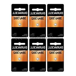6 384/392 Duracell Silver Oxide Batteries