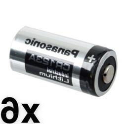 6 SIX Panasonic Lithium CR123A 3V CR17345 Camera Photo Batte