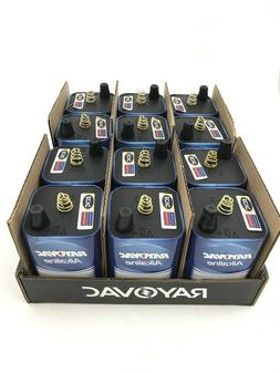 12 Pack Rayovac Alkaline 6V Lantern Battery, Spring Top Term