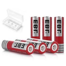 6pcs EBL 18650 Li-ion Rechargeable Batteries 3.7V 3000mAh Bu