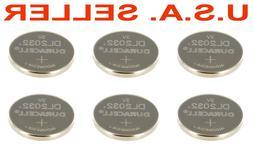 6 pcs Duracell DL2032 CR2032 2032 Lithium 3 volt Coin Cell B