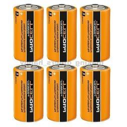 6 Duracell Procell D Size Alkaline Batteries