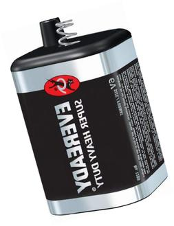 Eveready 6 Volt Lantern Battery, Super Heavy Duty 1209, Long