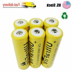 6 x 18650 Rechargeable Battery 9800mAh 3.7v Li-ion for Flash