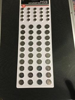60-Pack Button Cell Batteries! New!  CR2032 & LR44, CR2025,