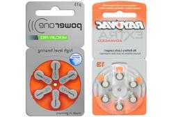 60-pack Size 13 Rayovac + 60-pack Size P13 PowerOne Hearing