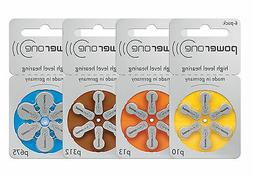 60 Power One Hearing Aid Batteries SIZE 10, 13, 312, 675