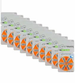 60 Powerone Mercury Free Hearing Aid Batteries Size: 13