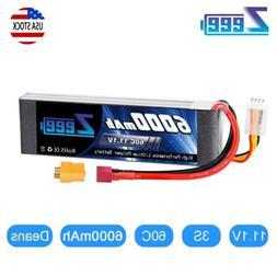 6000mAh 11.1V 60C 3S Deans Plug LiPo Battery for RC Car Truc