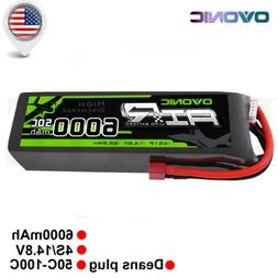 Ovonic 6000mAh 4S 14.8V 50C Lipo Battery Deans Plug For RC c