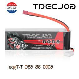 32.6000mAh 55C 11.1V 3S LiPo Battery Deans Plug for RC Car T