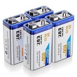 EBL 9 Volt Rechargeable Batteries Lithium ion 9V 600mAh Li-i