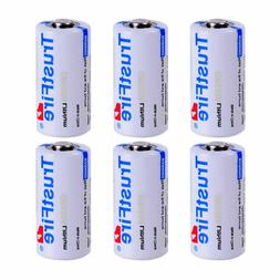 6pcs TrustFire CR123A Lithium Batteries 3V Battery 1400mAh N