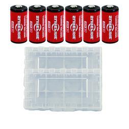 6x Surefire CR123A Lithium Batteries 3 Volts EXP. 11/2027 *M