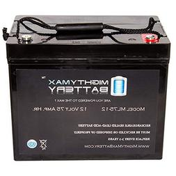 Mighty Max Battery 12V 75AH Internal Thread Battery for Hove