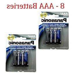 8 Wholesale Panasonic AAA Triple A Batteries heavy Duty Batt