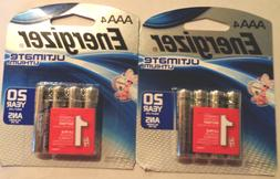 8  AAA Energizer Ultimate Lithium Batteries 2x 4 pk --L92SBP