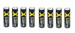 8 Batteries NiMH AA Rechargeable Battery